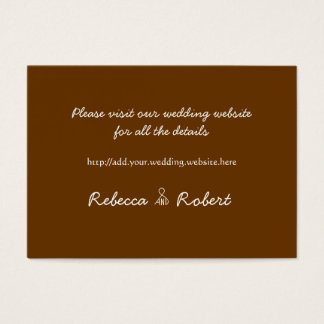 Our Tree Brown 100 Wedding Website Enclosure Cards