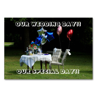 Our Wedding Day Table Card!! Table Card