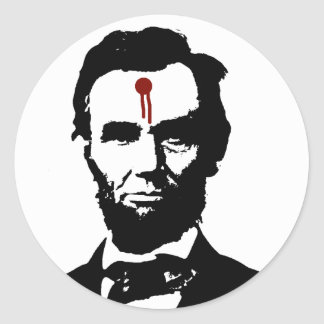 OUT FOR DEAD PRESIDENTS TO REPRESENT ME. AMAZING ROUND STICKER