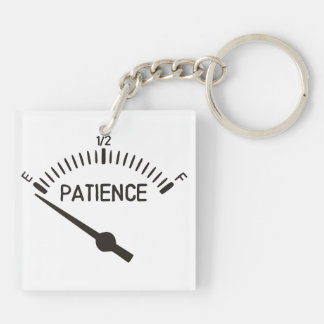Out of Patience Gas Gauge Key Ring
