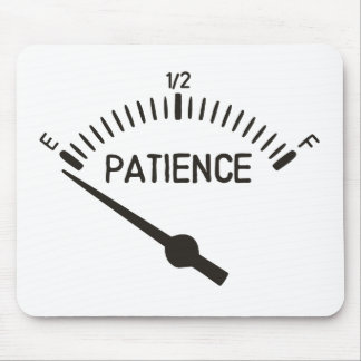 Out of Patience Gas Gauge Mouse Pad