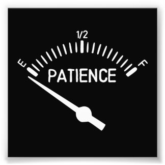 Out of Patience Gas Gauge Photo Print