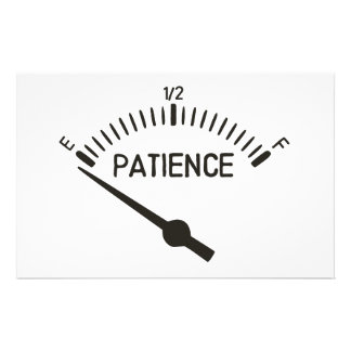 Out of Patience Gas Gauge Stationery