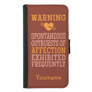 Outbursts of Affection custom wallet cases