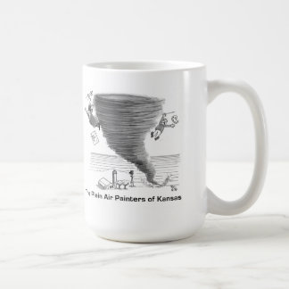 Outdoor artists vs. tornado coffee mug