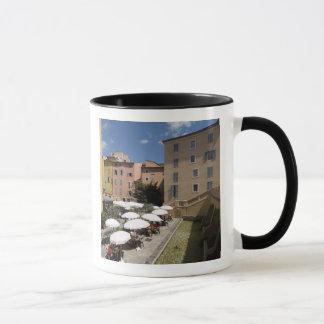 Outdoor café, Place de l'Eveche, Grasse, Mug
