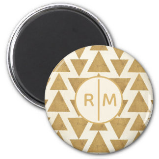 Outdoor Geo Step | Gold Geometric Pattern Magnet
