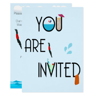 Outdoor Pool Party Invitation