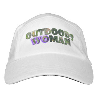 OUTDOORSWOMAN Camo text w/Purple Accent Hat
