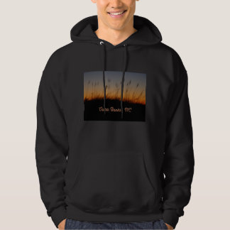 Outer Banks NC Sea Oats and Dunes at Sunset Hoodie
