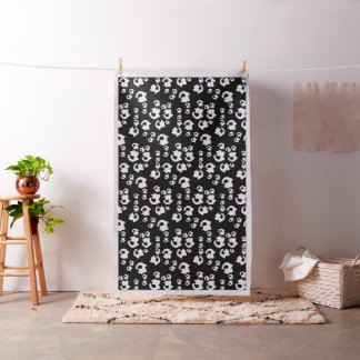 Outer black and white cat fabric
