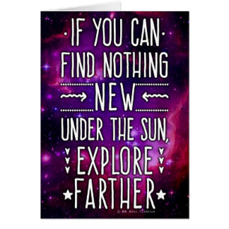 Outer Space Galaxy Nebula Exploration Words Purple Card