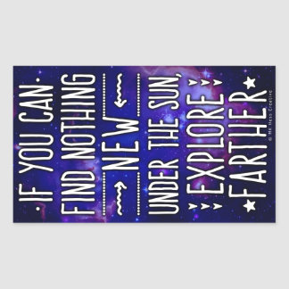 Outer Space Galaxy / Nebula with Exploration Words Rectangular Sticker