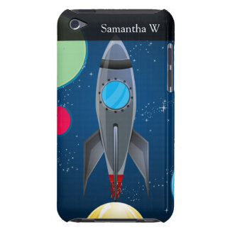 Outer Space Rocket Ship Barely There iPod Covers