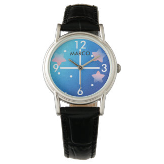 Outer Space Women's Black Enamel Watch