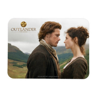 Outlander | Jamie & Claire Face To Face Rectangular Photo Magnet