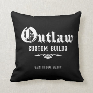 Outlaw Hot Rod Pillow