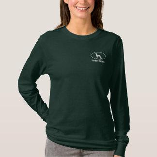 Oval Great Dane Embroidered Shirt (Dark)