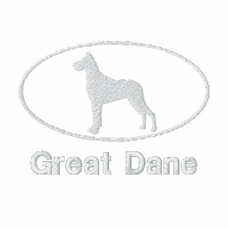 Oval Great Dane Embroidered Shirt (Dark)
