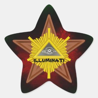 Oval Stickers, ILLUMINATI Star Sticker