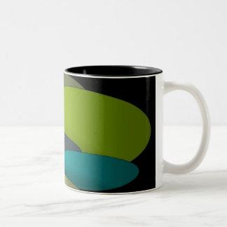 Ovals Two-Tone Coffee Mug
