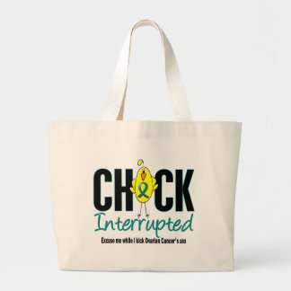 Ovarian Cancer Chick Interrupted Jumbo Tote Bag