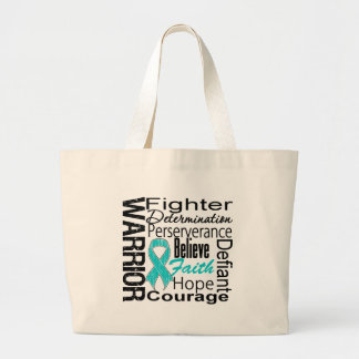 Ovarian Cancer Warrior Collage Jumbo Tote Bag