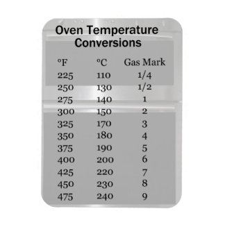 Oven Temperature Conversion Magnet