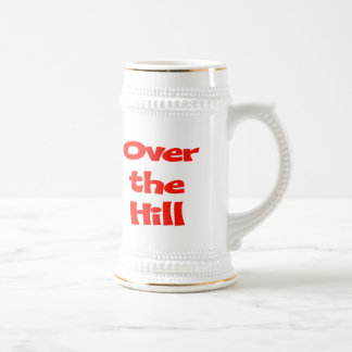 Over The Hill 50th Birthday Gifts Beer Stein