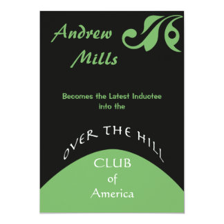 "Over the Hill - Birthday Party Invitation 5"" X 7"" Invitation Card"