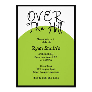 Over the Hill Birthday Today s Best Award Custom Announcement