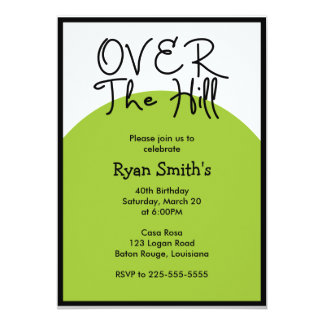 Over the Hill Birthday (Today's Best Award) 13 Cm X 18 Cm Invitation Card