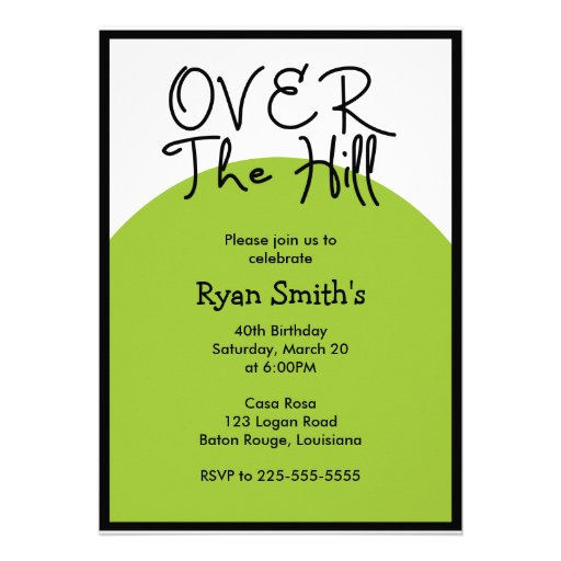 Over the Hill Birthday (Today's Best Award) Custom Announcement