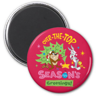 Over The Top Season's Greetings Magnet