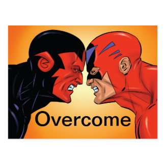 Overcome Cartoon Card Postcard