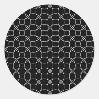 Overlapping Circles Round Sticker