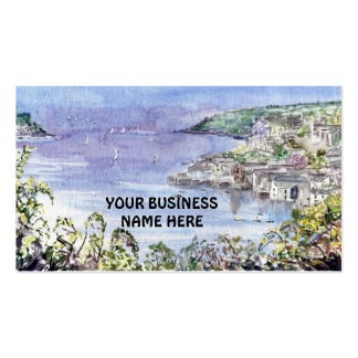 'Overlooking Fowey' Business Card