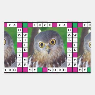 Owl-alishush Rectangular Sticker
