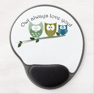 Owl always love you cut Owls art Gel Mousepad