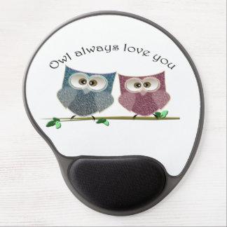 Owl always love you cute Owls art Gel Mousepad