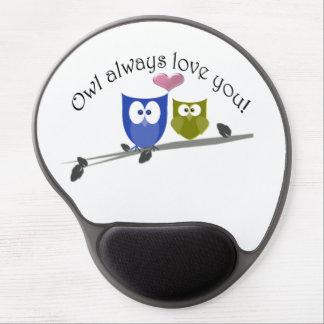 Owl always love you gel mousepads