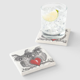 Owl Always Love You Stone Beverage Coaster