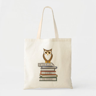 Owl and Stack of Books
