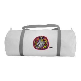 Owl art gym duffel bag