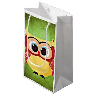 """owl"" ""big eyed"" ""blue eyed owl"" ""yellow owl"" ""cut small gift bag"
