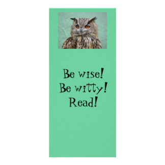 Owl Bookmark Rack Card Template