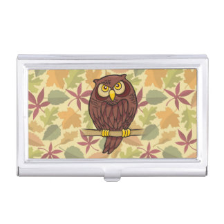 Owl Cartoon Business Card Holder