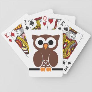 Owl cartoon playing cards