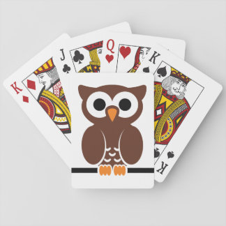 Owl cartoon poker deck