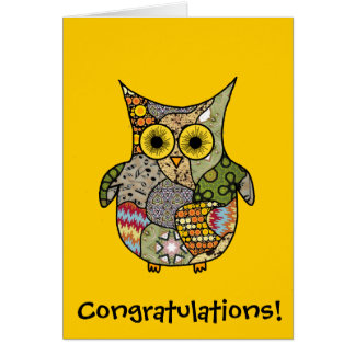 Owl Collage Card